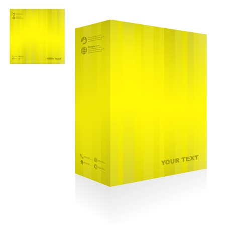size distribution: Vector packaging box. Abstract illustration.   Illustration