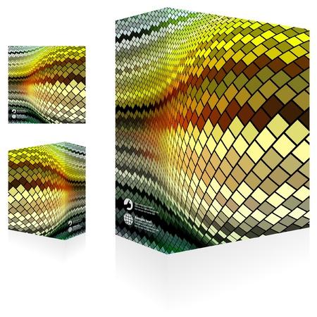 Vector packaging box. Abstract illustration.   Stock Vector - 9904494