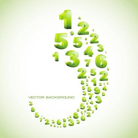 digital numbers: Abstract background with numbers.   Illustration