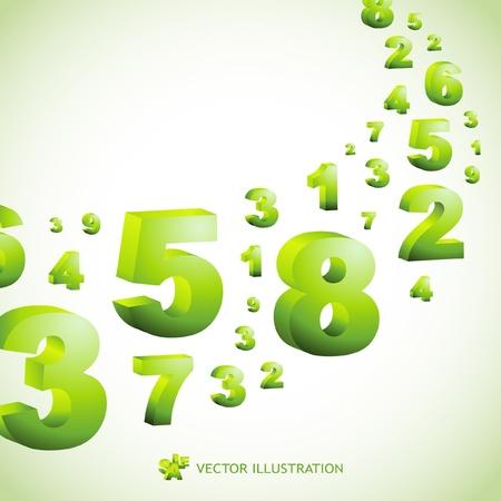 nombres: Contexte abstrait avec des nombres.