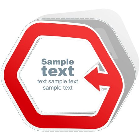 promotional products: Sticker template Illustration