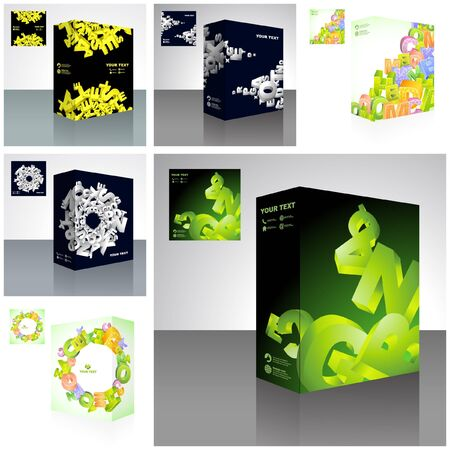packaging box. Abstract illustration. Vector
