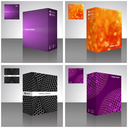 packaging design: packaging box. Abstract illustration. Illustration