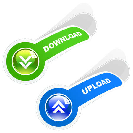 Download and upload. set for web. Stock Vector - 9901767
