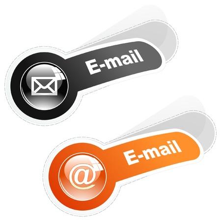 E-mail. Sticker voor webpagina.