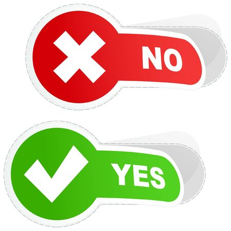 assent: Yes and No. sticker set.