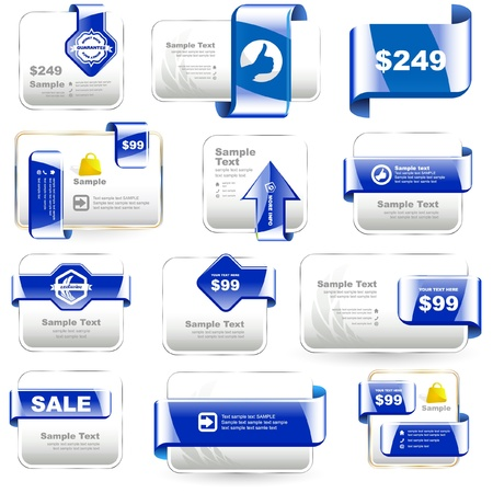 discount banner: Vector banner collection for sale.