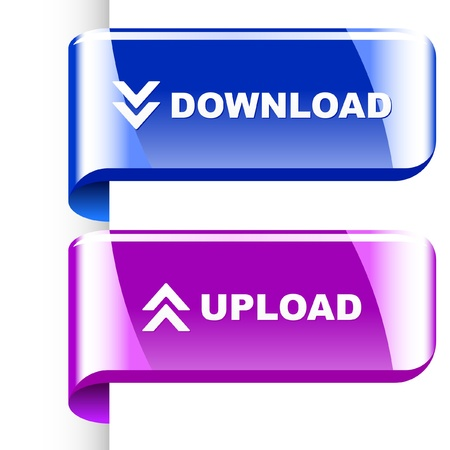 Download and upload. set for web. Vector