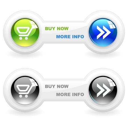 Shopping icon set Stock Vector - 9904165