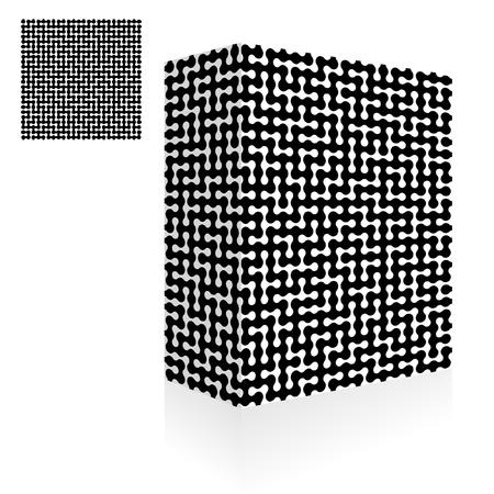 deadlock: Maze. Seamless pattern illustration.   Illustration