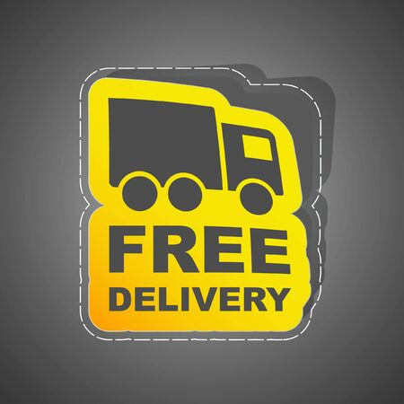 ship package: Free delivery element for sale. Illustration