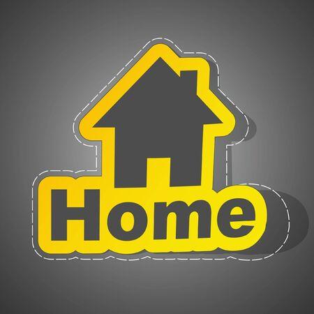 Home sticker. Vector