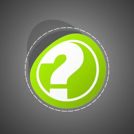 Question sticker.  Vector