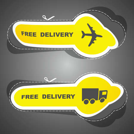 Free delivery element set for sale Stock Vector - 9899948