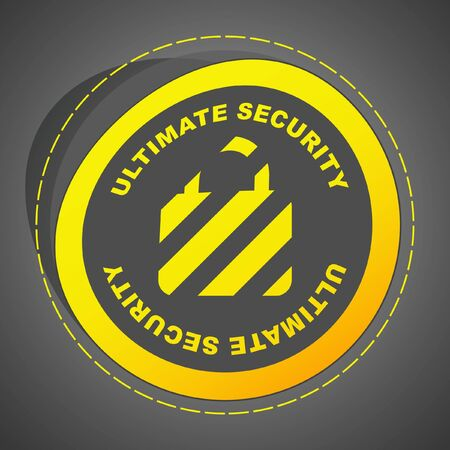 ultimate: ULTIMATE SECURITY. Vector illustration (eps10). Illustration