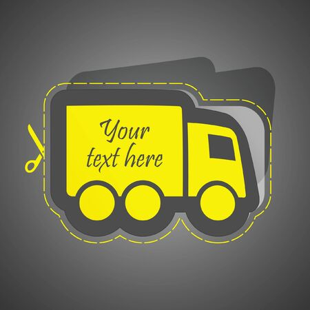 Free delivery element for sale. Vector illustration (eps10). Vector