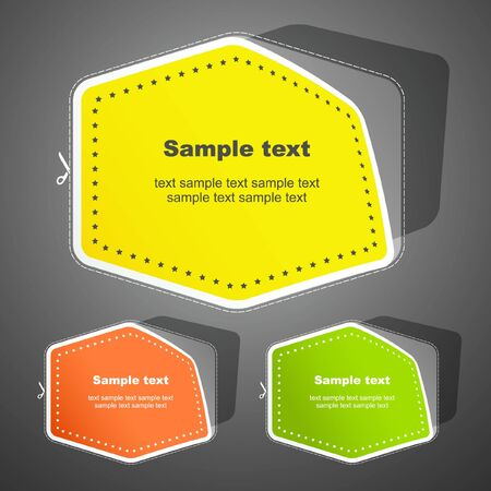 Sticker set for design.   Vector