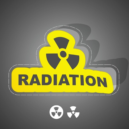 harmful to the environment: Radioactive sign. Vector illustration.