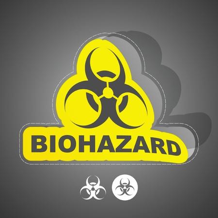 biohazard: Signe de danger biologique. Vector illustration. Illustration