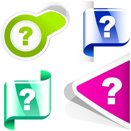Question element set.   Stock Vector - 9894839