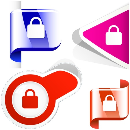 Padlock element set. Vector collection.    Stock Vector - 9894835