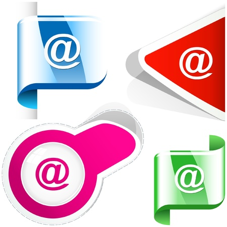 E-mail icon set for web.   Vector