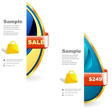 Vector set of sale design elements   Stock Vector - 9644862