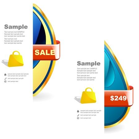 Vector set of sale design elements Stock Vector - 9644862
