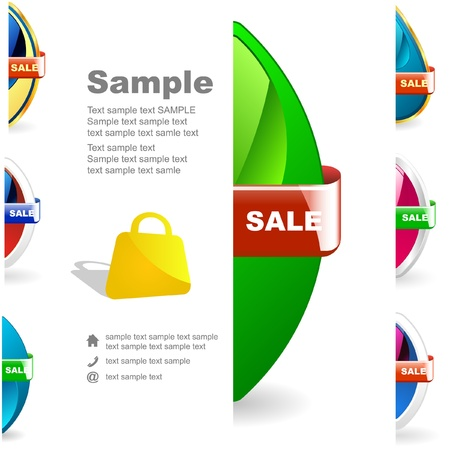 procent: Vector set of sale design elements