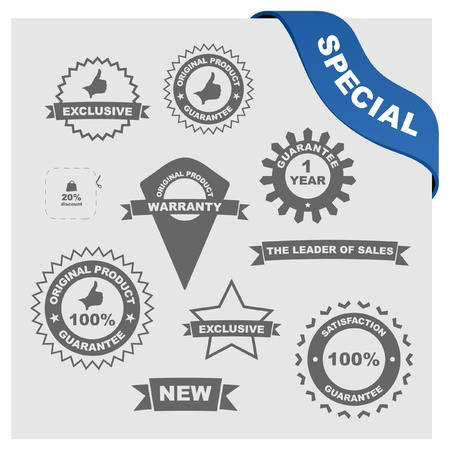 Vector collection of sale signs Stock Vector - 9644853