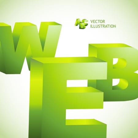 high society: WEB. 3d illustration.