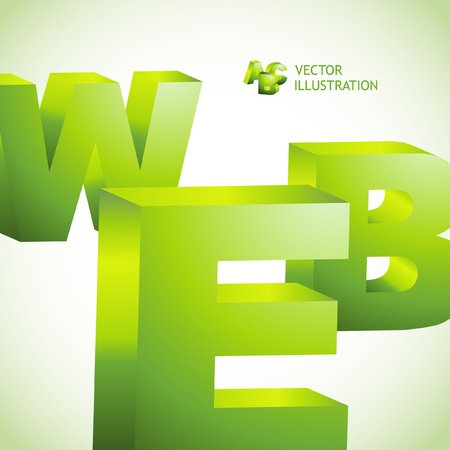 millones: WEB. Ilustraci�n 3D.