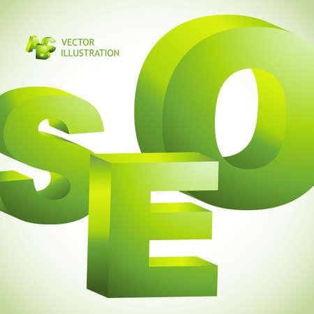 SEO. Vector 3d illustration. Stock Vector - 9492385