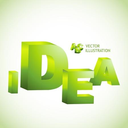 IDEA. 3d illustration. Vector