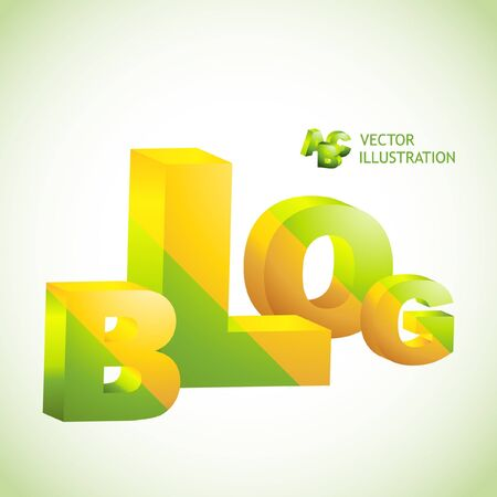 blogosphere: BLOG. Vector 3d illustration.