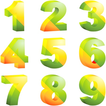 numerical: Number icons. Vector set. Illustration