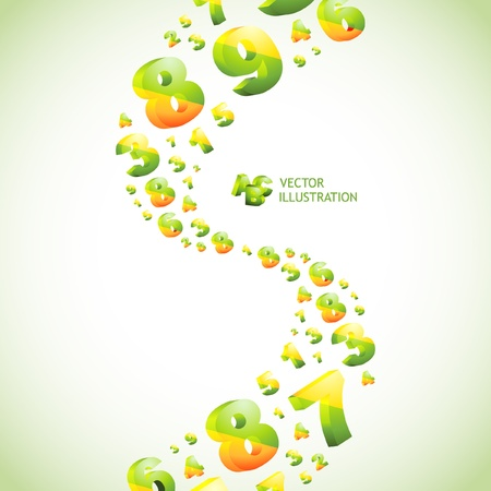 7 8: Abstract background with numbers.   Illustration