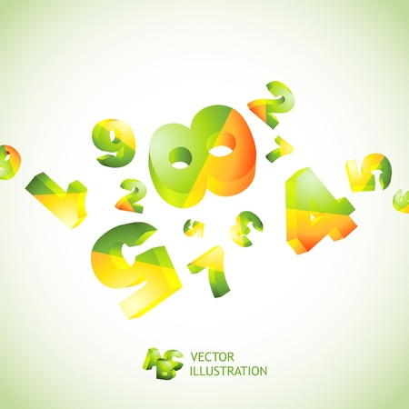 industry electronic: Abstract background with numbers.   Illustration