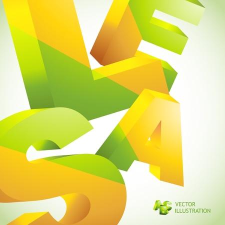 barter: SALE. 3D collage. Vector illustration.
