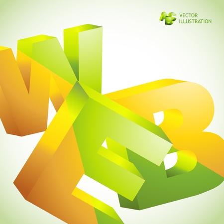 millions: WEB. Vector 3d illustration. Abstract background. Illustration