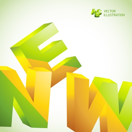 new products: NEW. Vector 3d illustration. Abstract background. Illustration