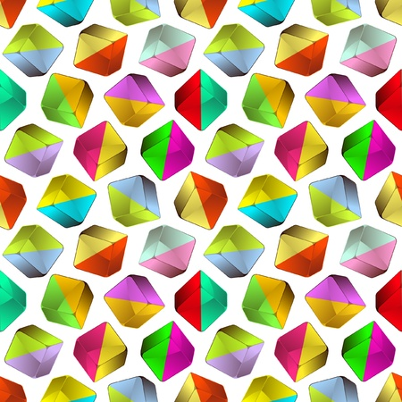 Seamless crystals background.   Vector