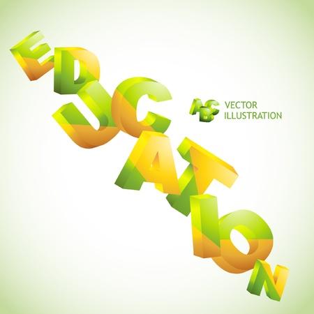 EDUCATION. 3d illustration. Vector