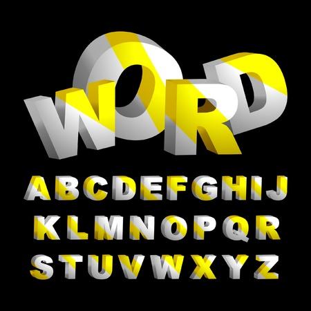 3d alphabet. Vector set.   Stock Vector - 9493966