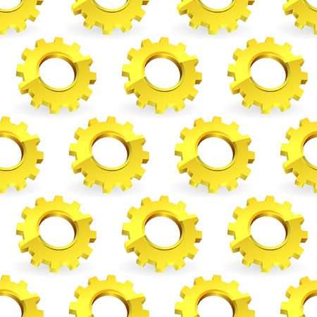 Seamless gears background.   Vector