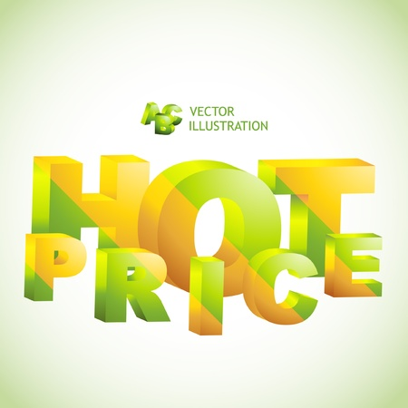 HOT PRICE. 3D collage. Vector illustration. Stock Vector - 9492400