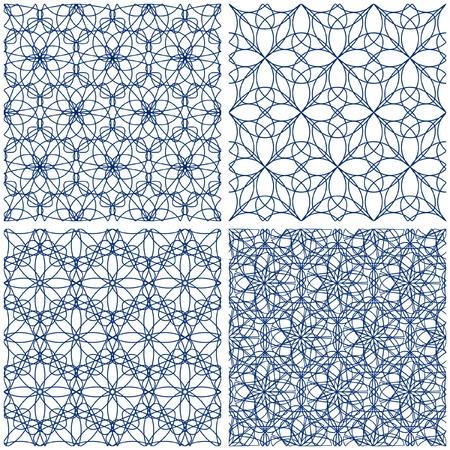 guilloche pattern: Patr�n transparente.