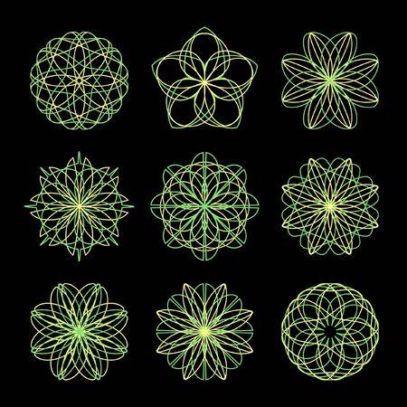 Guilloche elements.   Vector