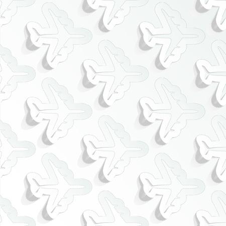 Aircraft. Seamless pattern. Vector
