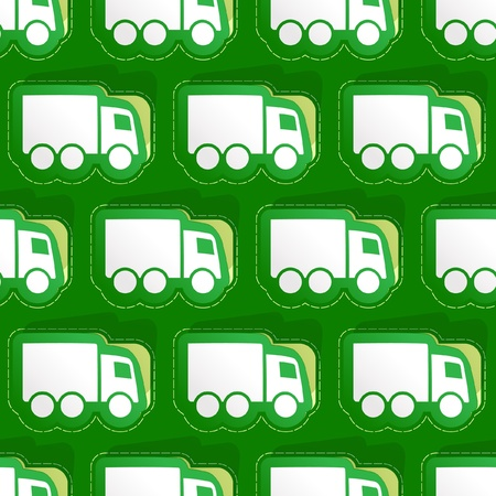 Trucks. Seamless background. Vector